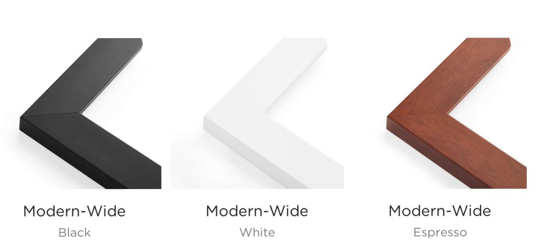 Modern wide frames